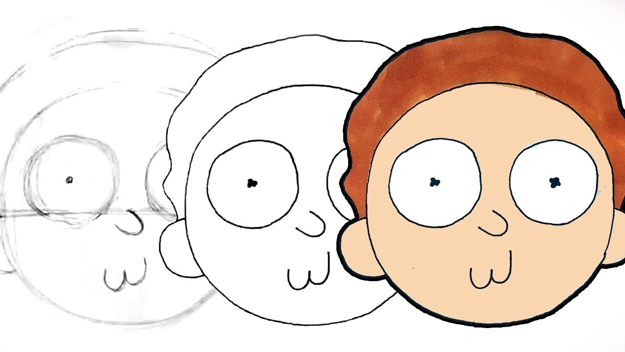 jpg royalty free stock Morty drawing. How to draw from
