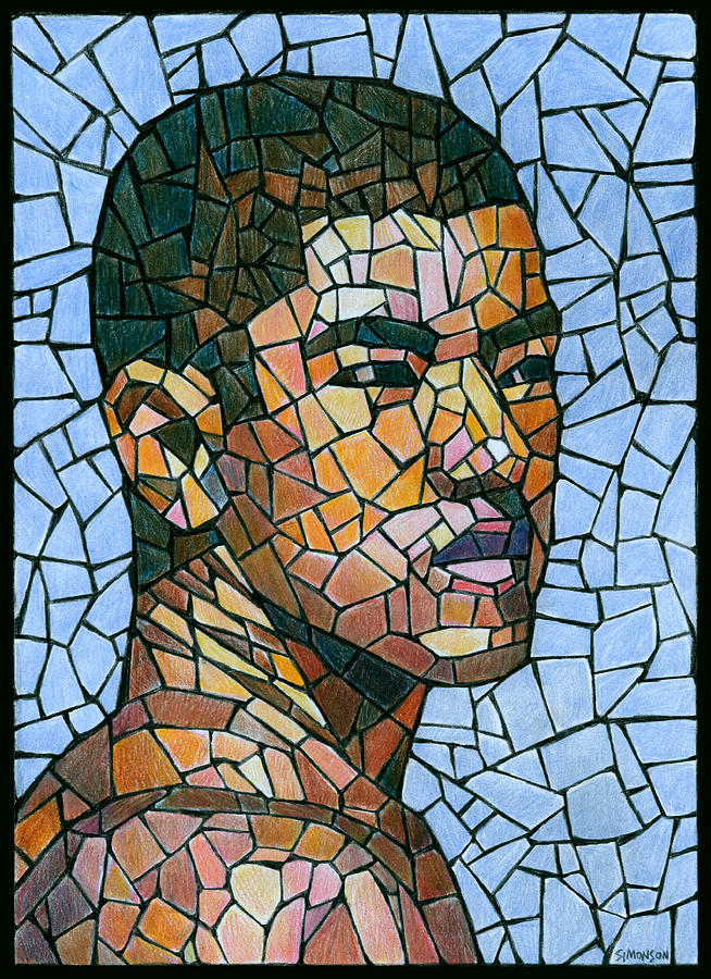 clip art Mosaic drawing. Mike in