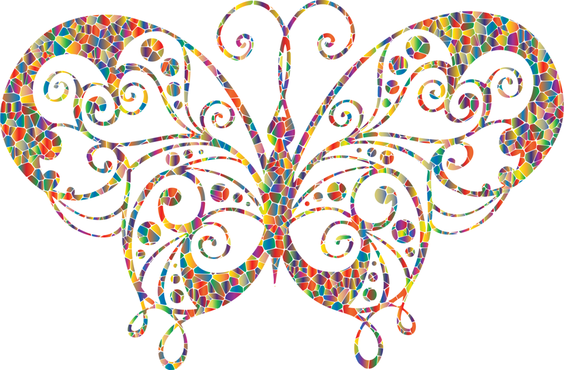 clipart freeuse library Mosaic drawing. Butterfly computer icons insect