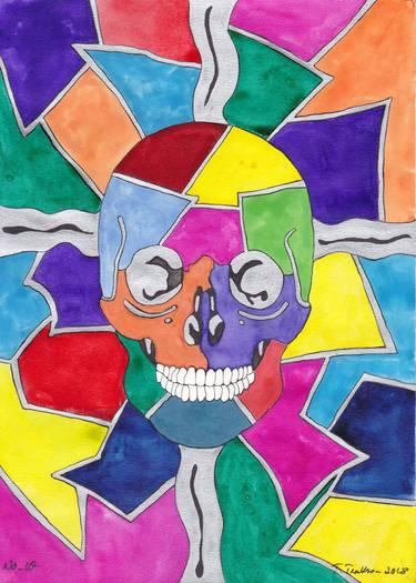 clip art black and white stock Mosaic drawing. Skull no
