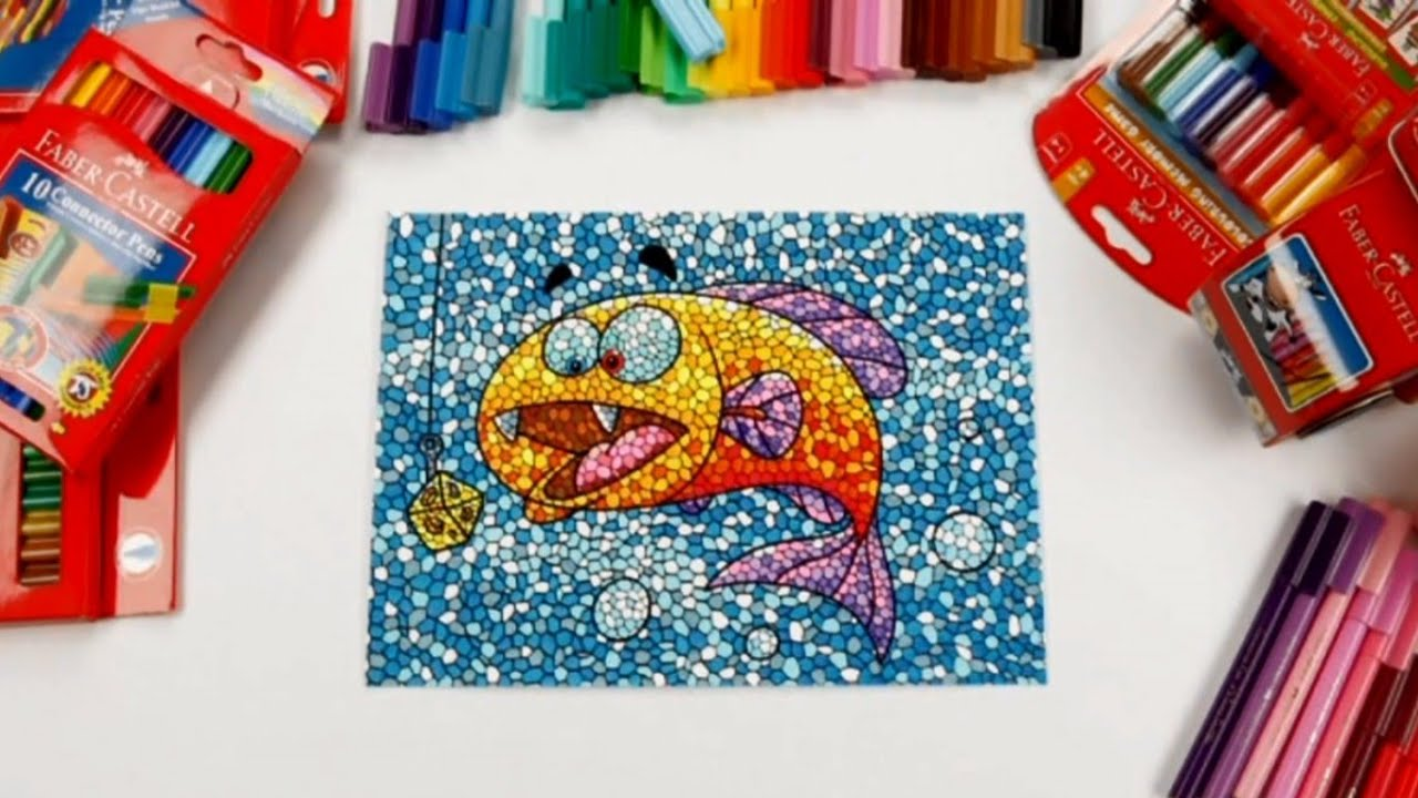 banner download For kids technique with. Mosaic drawing