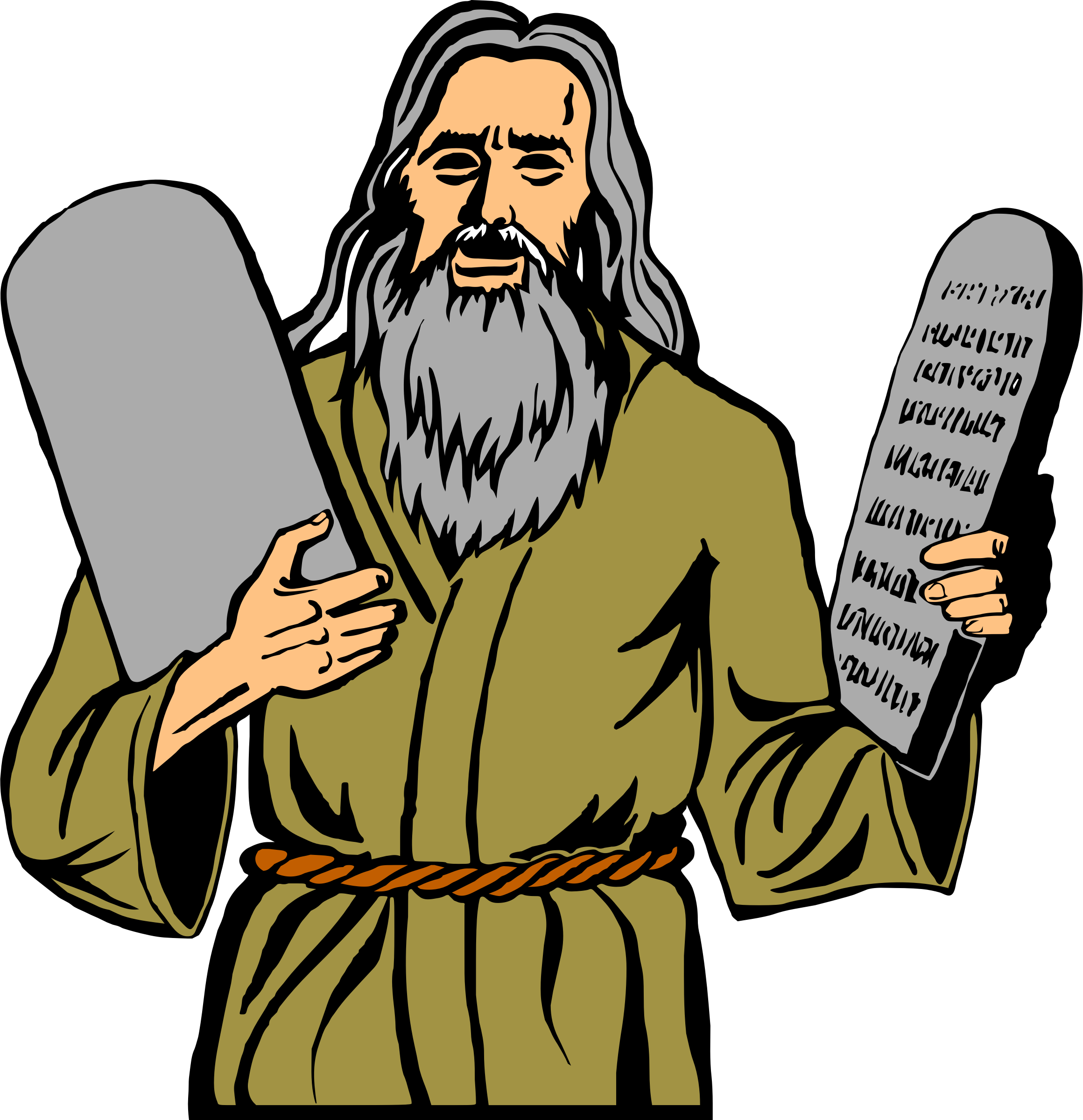 clipart black and white Big image png. Moses clipart