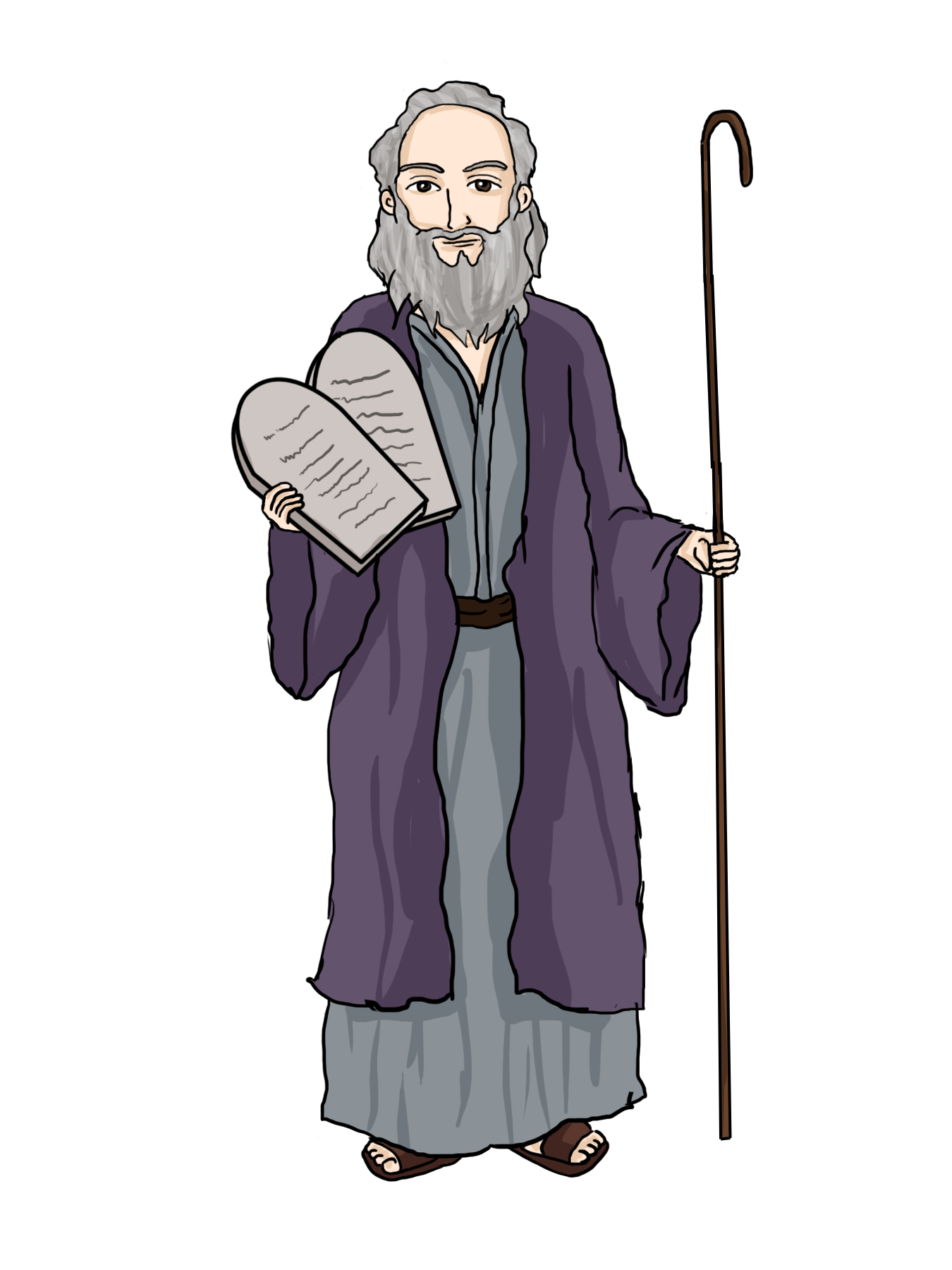 vector black and white library Moses clipart bible lesson. Image result for picture.
