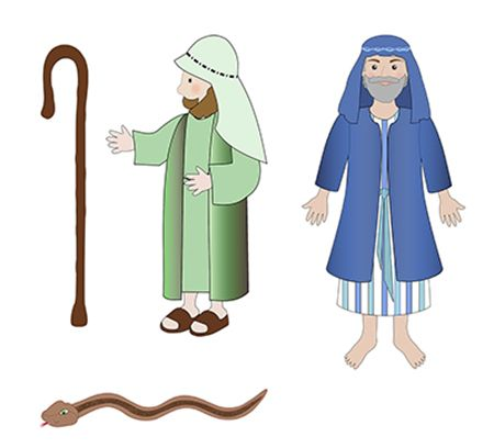 picture black and white library Moses clipart bible lesson. Aaron staff snake cutout.