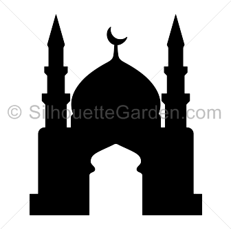 png black and white stock Vector door mosque. Silhouette clip art download