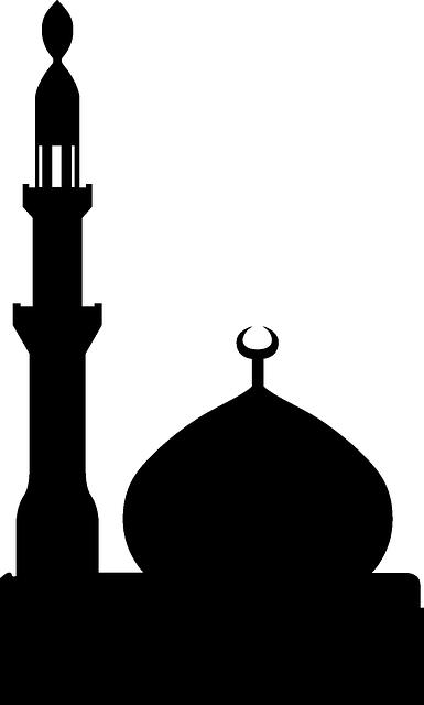 graphic library library Vector door mosque. Towers ramadan hari raya