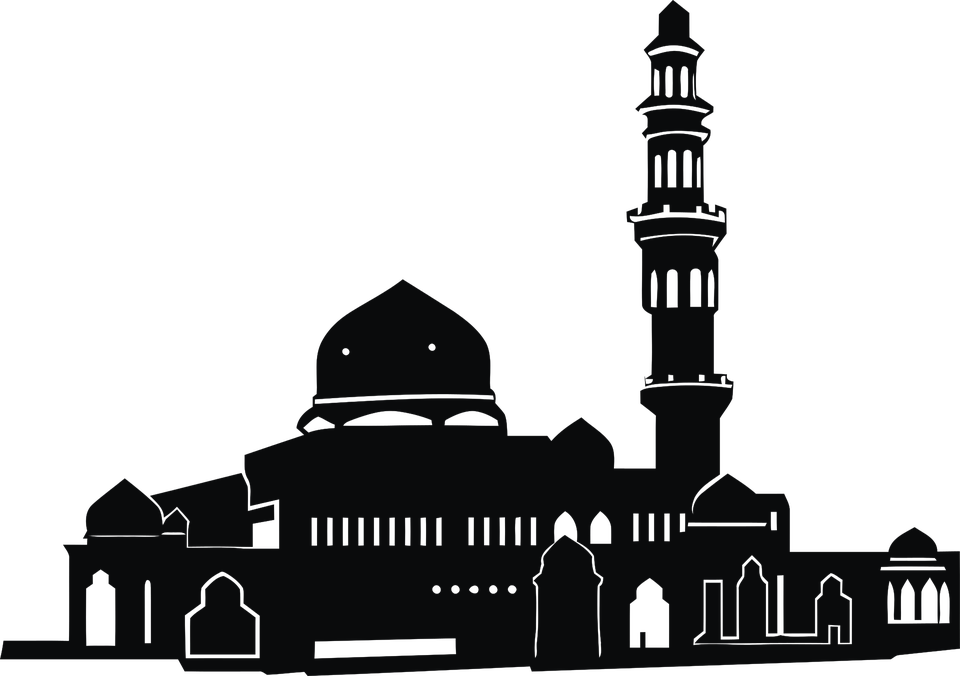 png black and white download Islam png stickpng download. Mosque clipart transparent background.