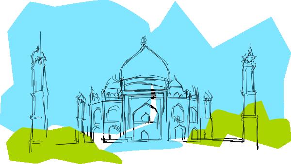 picture royalty free stock Kablam India The Taj Mahal Clip Art at Clker