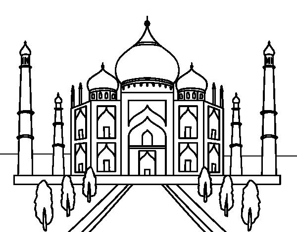 graphic royalty free stock Taj Mahal Drawing at GetDrawings