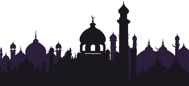 banner stock Ramadan Watercolor Painting Drawing Illustration Watercolor Castle