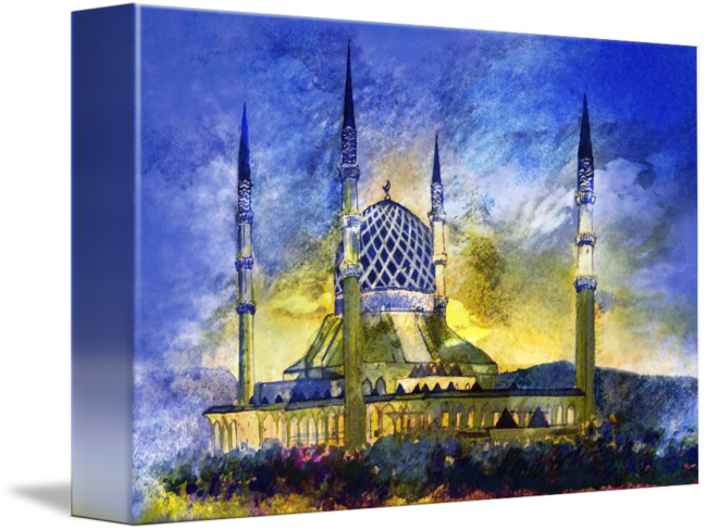 clipart royalty free library Sultan salahuddin abdul aziz. Mosque drawing malaysia