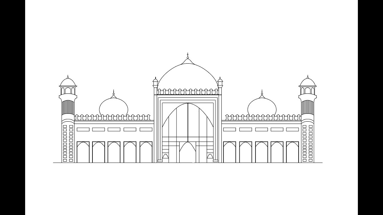 graphic download How To Draw Badshahi Mosque In Ms Paint