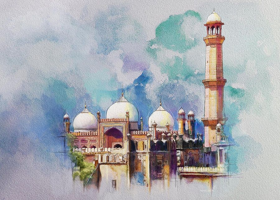 banner black and white download Badshahi Mosque by Catf