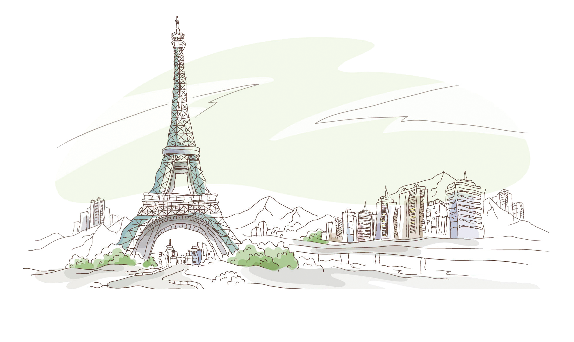 clip royalty free download Mosque drawing tower. Eiffel tour wallpaper watercolor