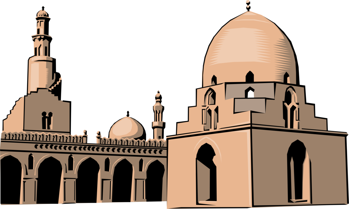 clip art download Islamic Mosque Muslim with Minarets