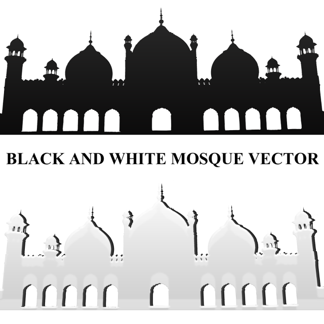 vector freeuse library Abstract allah arab png. Mosque vector