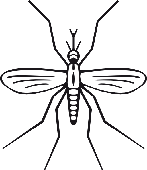 svg stock Clip art at clker. Mosquito clipart black and white