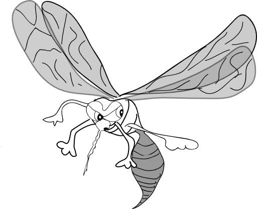 vector black and white stock Freehand i royalty free. Mosquito clipart black and white