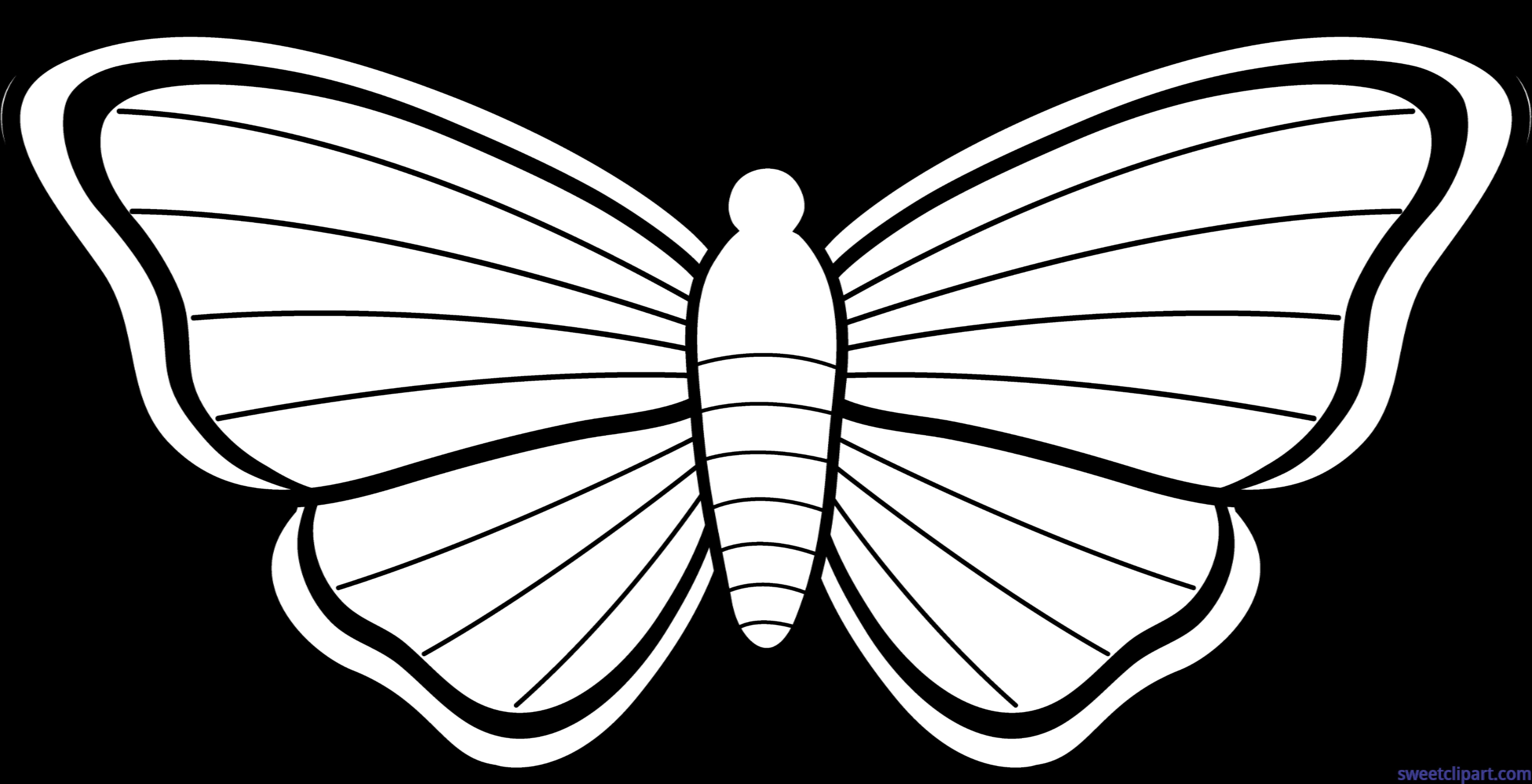 image stock Lineart clip art sweet. Moth clipart.