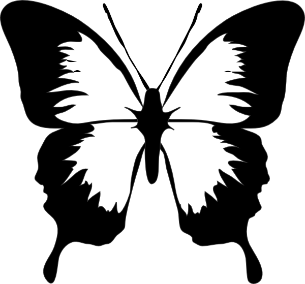 png stock Butterfly clip art at. Moth clipart black and white.