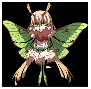 graphic royalty free library Lunar sprite weasyl. Moth clipart luna moth.