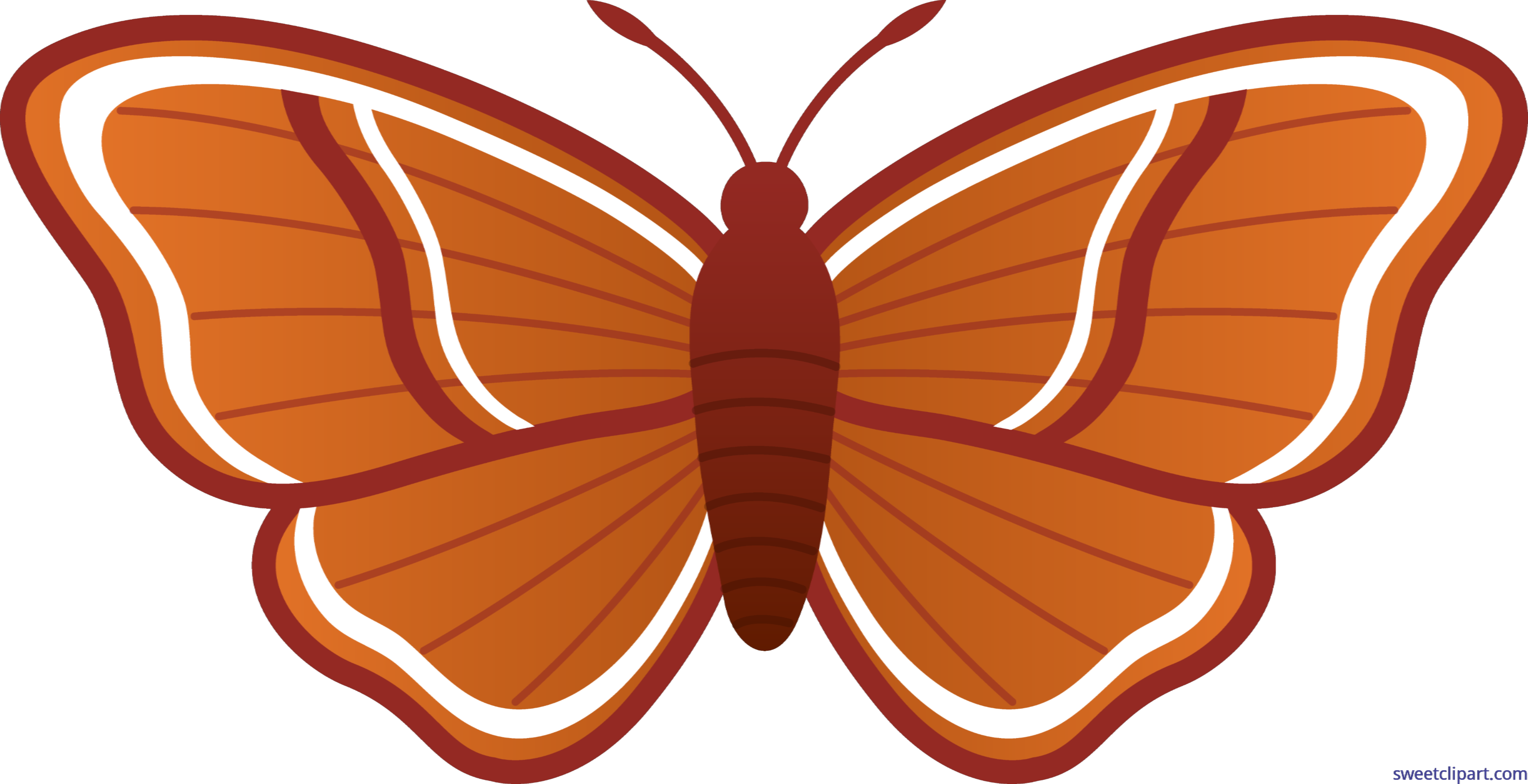 vector royalty free library Clip art sweet. Moth transparent clipart