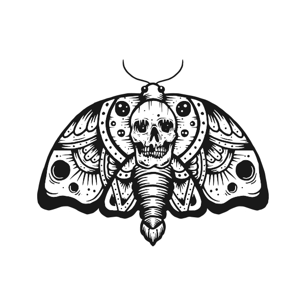 transparent stock Moth vector.