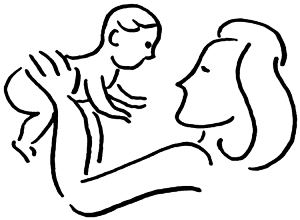 vector royalty free Mother clipart born baby. Hangley aronchick segal pudlin.