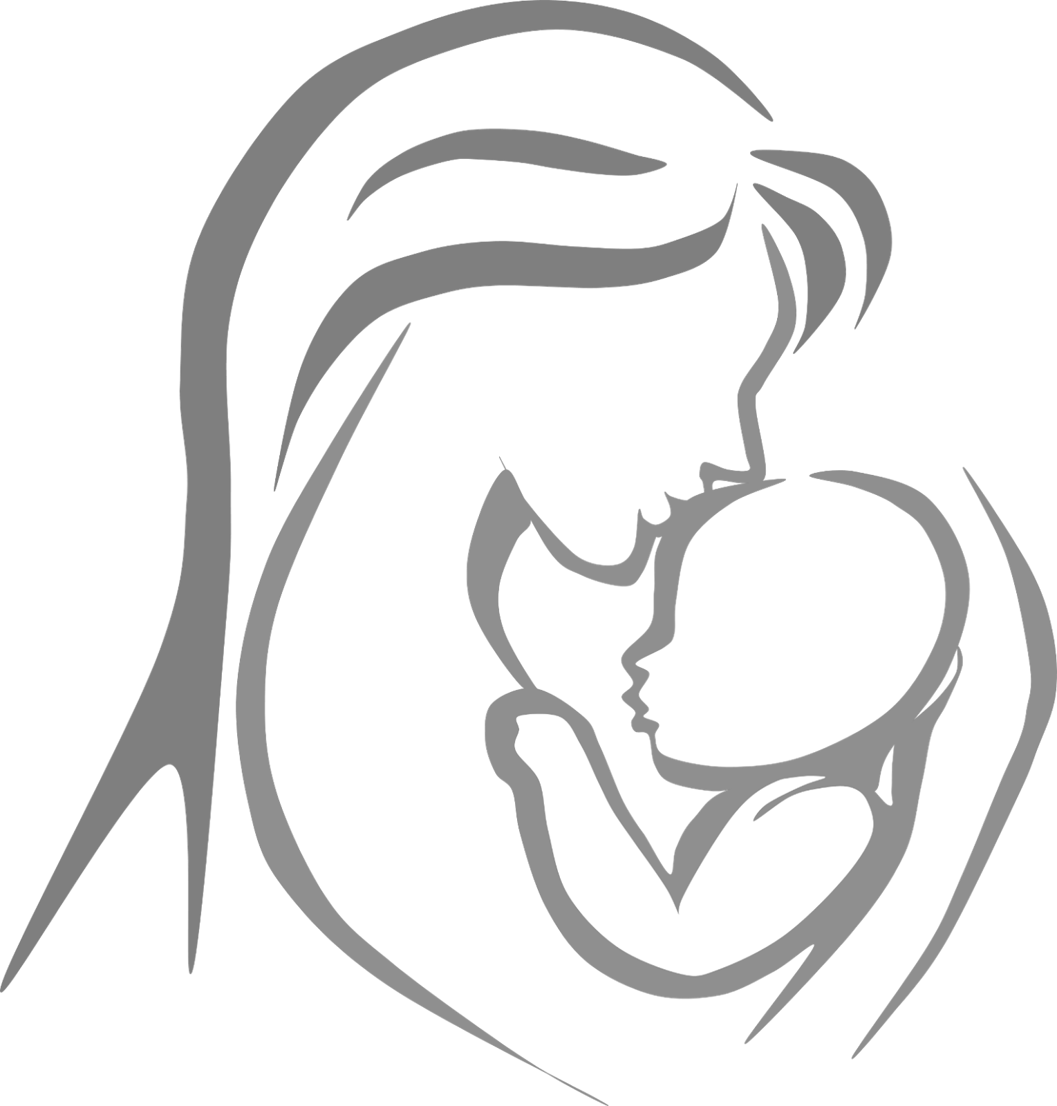 graphic freeuse download Mother clipart born baby. Black and white cilpart.