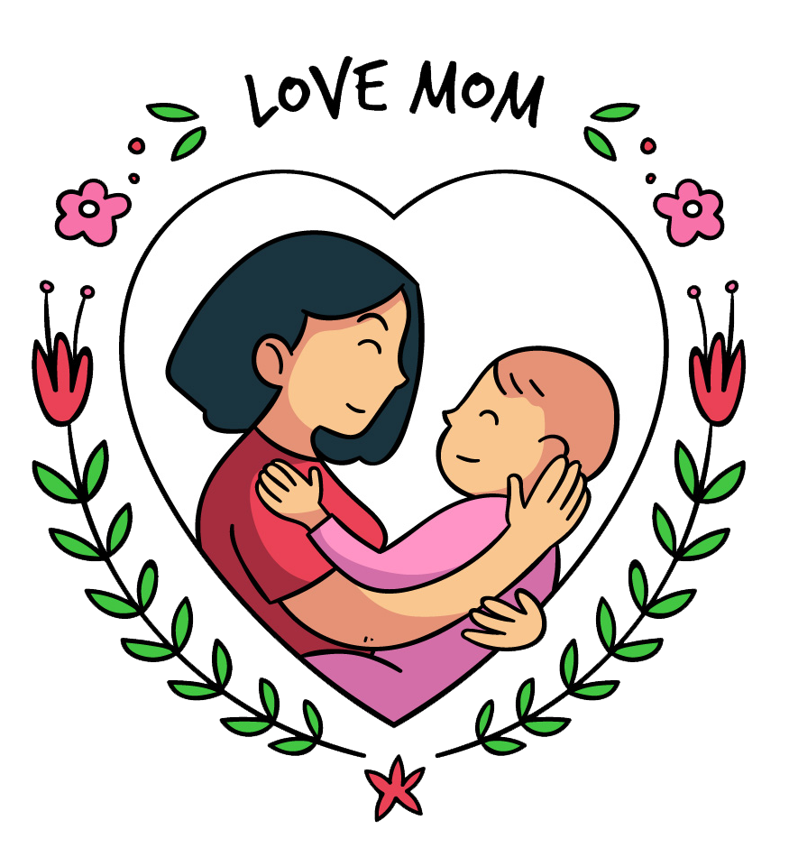 jpg library Mom vector motherhood. Download mothers day people