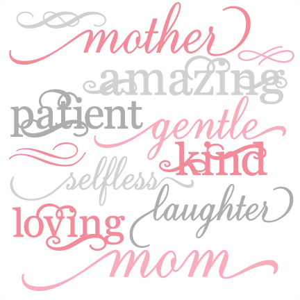 royalty free download Mother Word Set SVG cut files mother svg cut files for scrapbooking