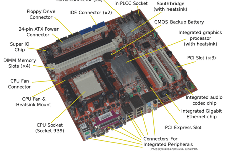 clip stock pictures of motherboard with label