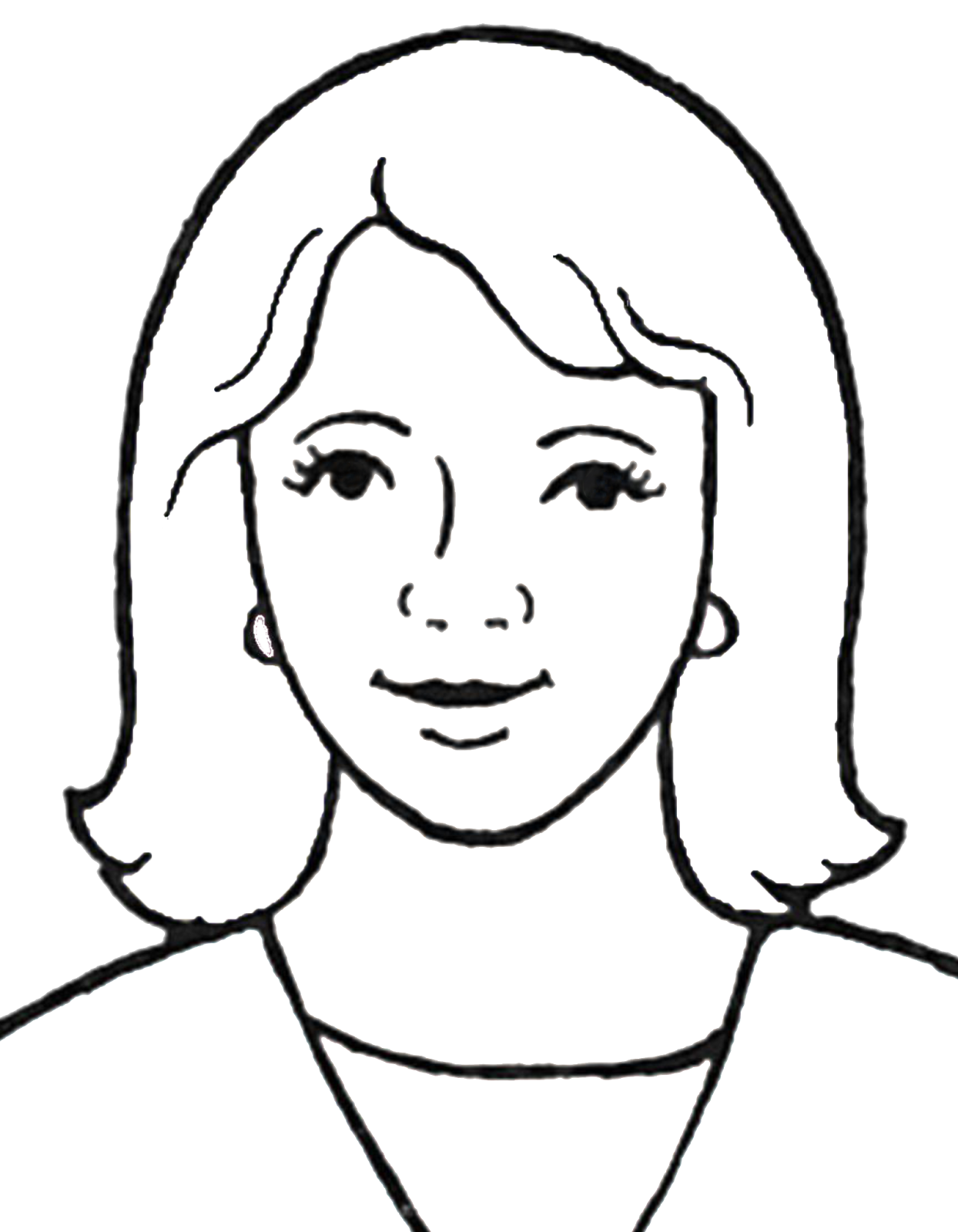 graphic library stock Drawing portrait easy. Mother images at getdrawings