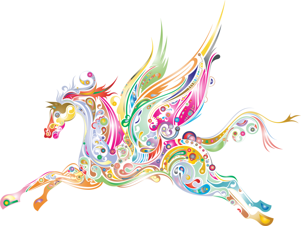 graphic black and white Flying horses Pegasus Drawing Computer graphics free commercial