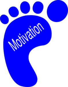 banner library stock Left footprints clip art. Motivation clipart.