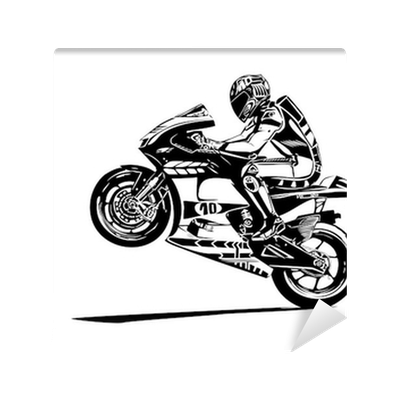 picture royalty free stock moto gp wheelie Wall Mural