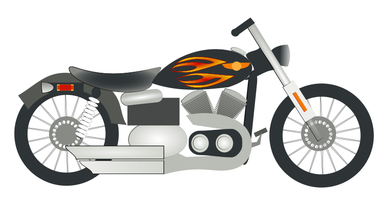 vector Big . Motorcycle clipart