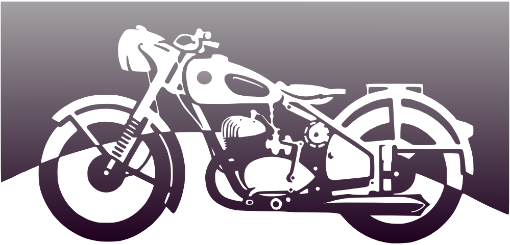 jpg black and white Clipartist net clip art. Motorcycle clipart black and white