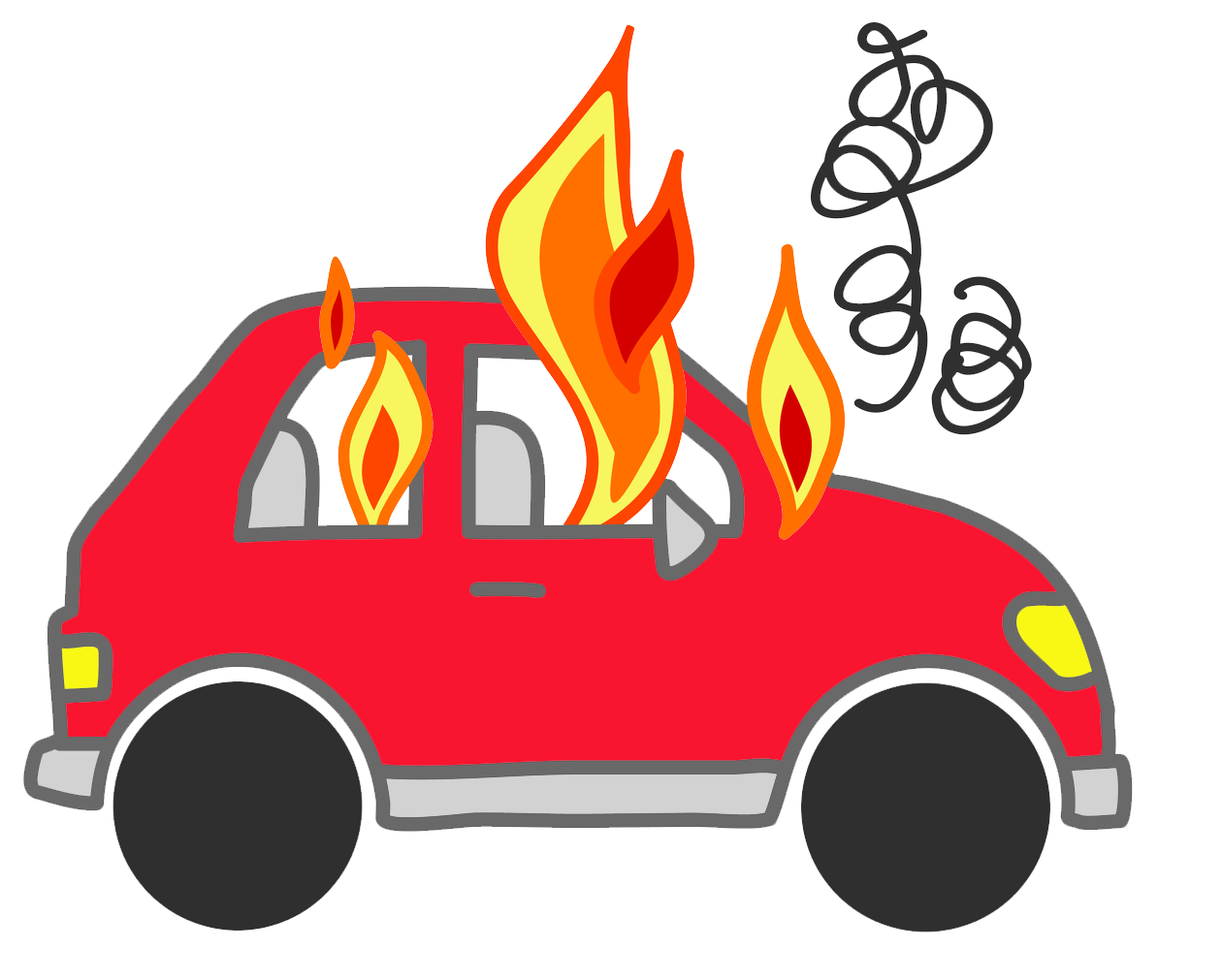graphic black and white download Paws clipart car. Flames real flame free