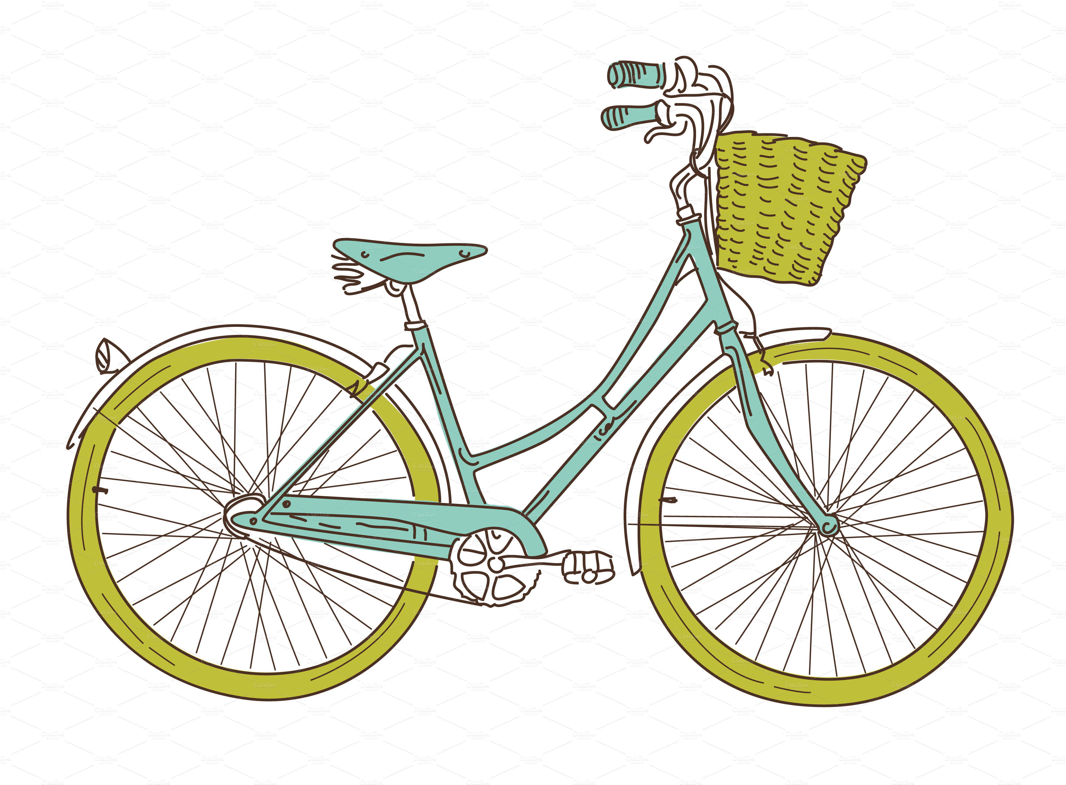 svg freeuse library Drawn Bike old fashioned