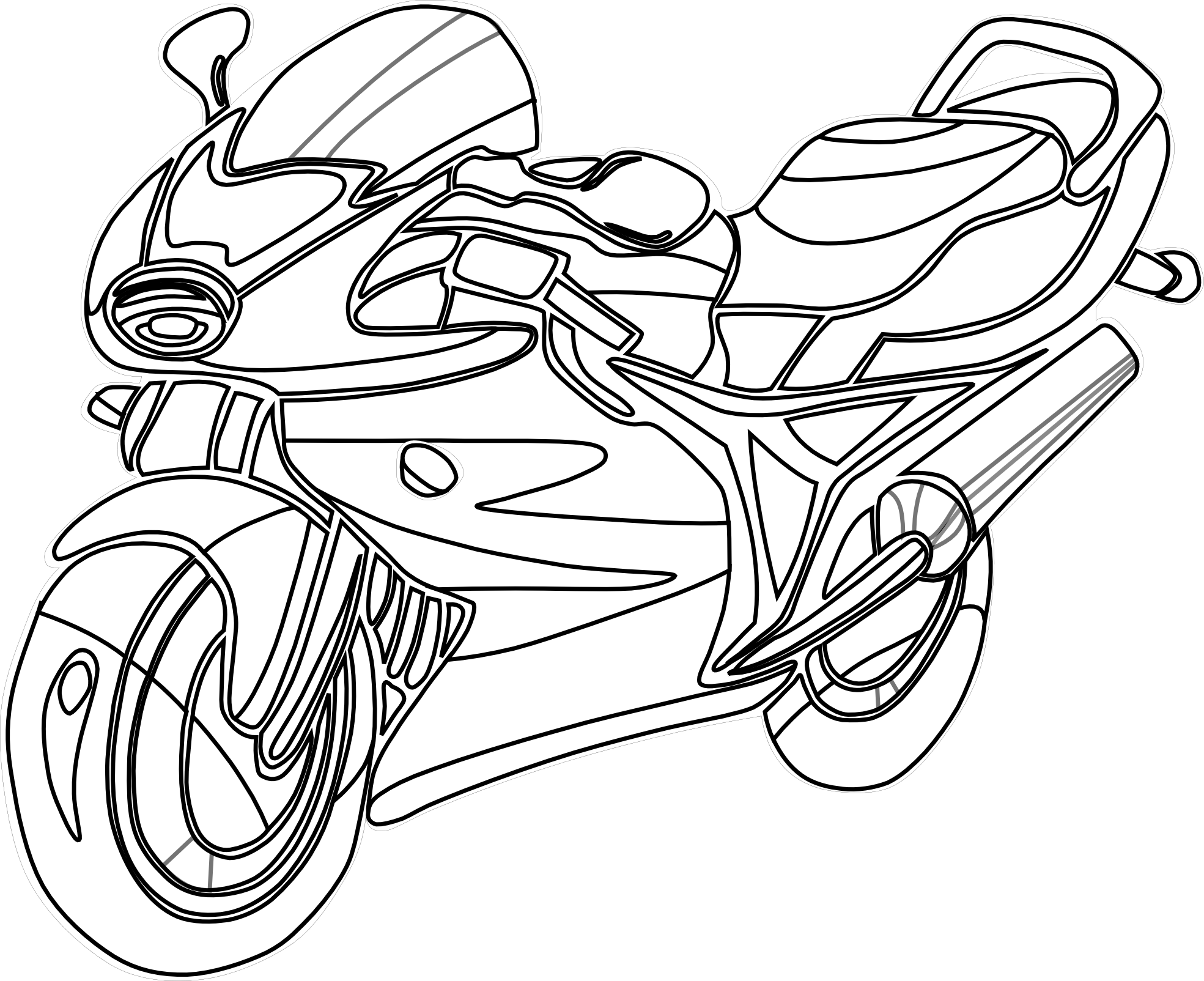 picture royalty free Motorcycle Outline Drawing at GetDrawings
