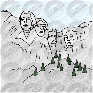 banner royalty free stock Mount rushmore clipart. Picture for classroom therapy