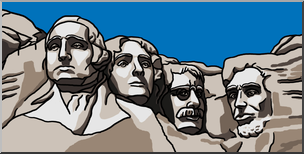 jpg black and white library Clip art mt color. Mount rushmore clipart
