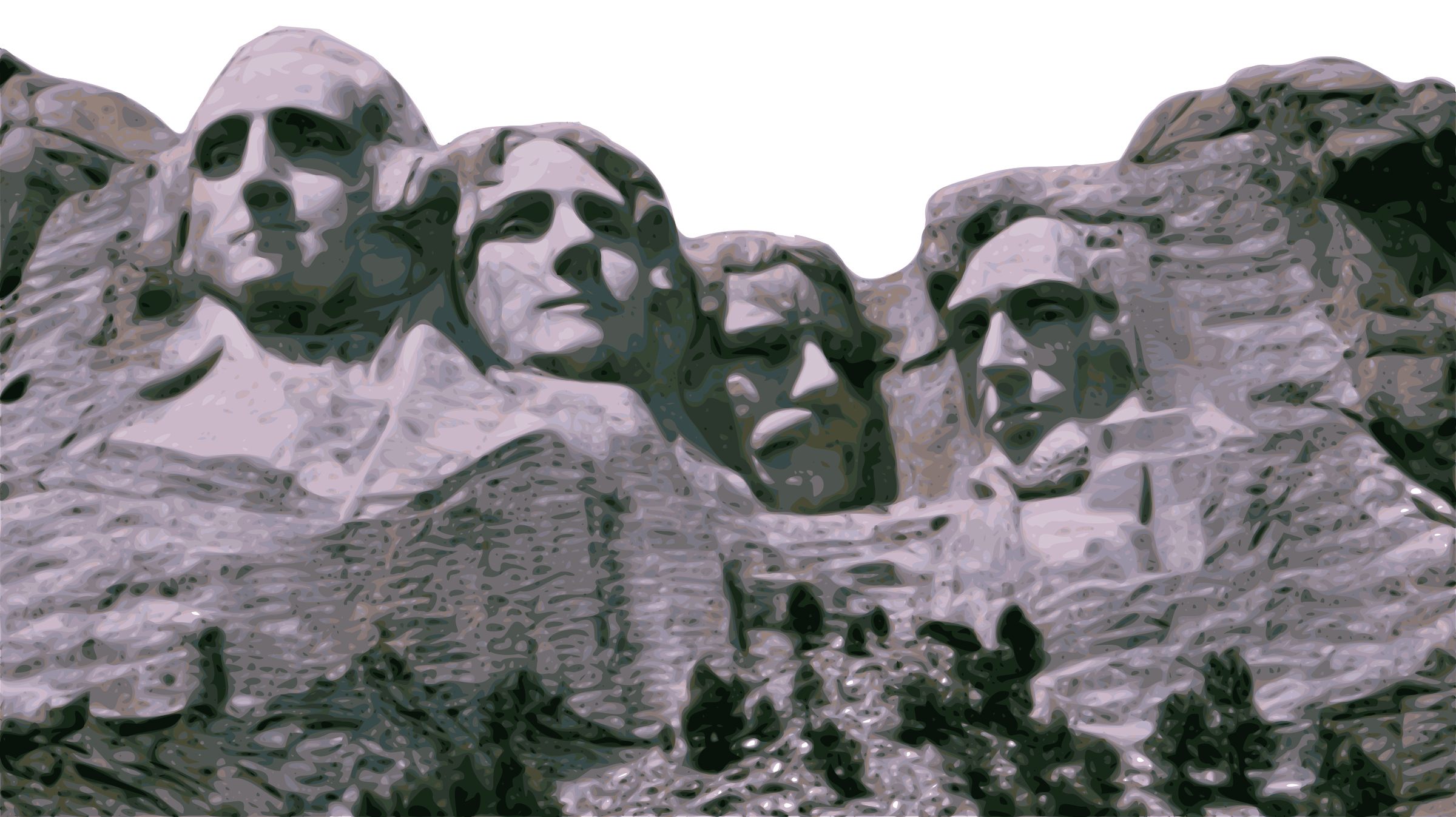graphic freeuse library Mount rushmore clipart caricature. Big image png.