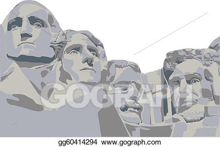 jpg download Eps vector four presidents. Mount rushmore clipart president.