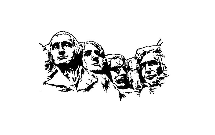 image library Mount rushmore clipart president. Transparent free for .