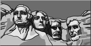 jpg black and white download . Mount rushmore clipart printable.