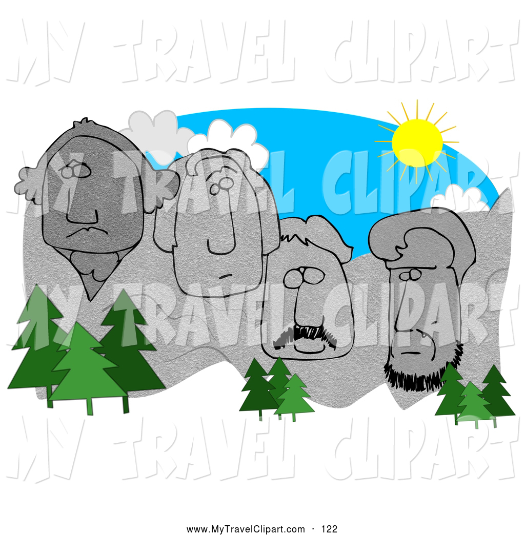 jpg black and white download Mount rushmore clipart printable. .