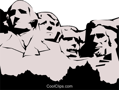 picture download  black and white. Mount rushmore clipart sculpture.