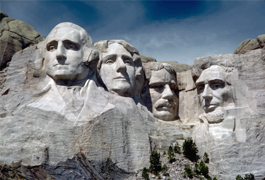 clip art royalty free library Mount rushmore clipart sculpture. World cartoon rock temple.